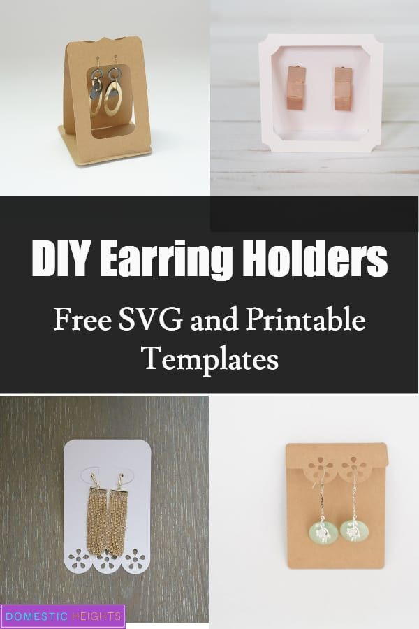 Earring Card Template Free Earring Cards Template Diy Earring Holder Diy Earring Cards