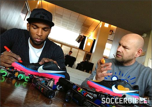 Ryan Babel Pimps Up His Nike Mercurial Boots : Football News : Soccer Bible