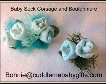 La cinta bebé calcetín Rosa ramillete regalo por BabyBlossomGifts