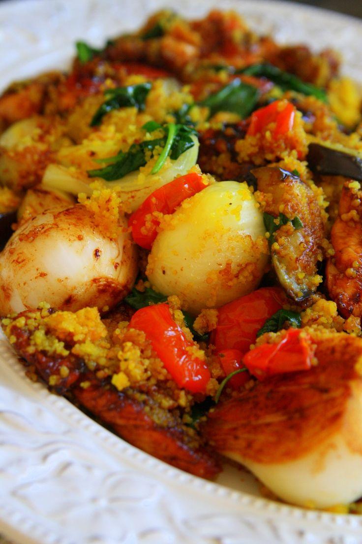Smakrik kyckling med mangosalsa och kryddig bulgur - Jennys matblogg