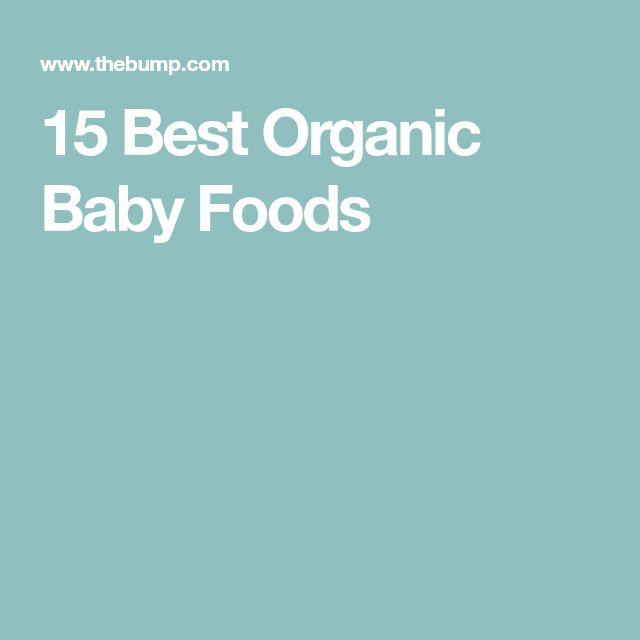 15 Best Organic Baby Foods
