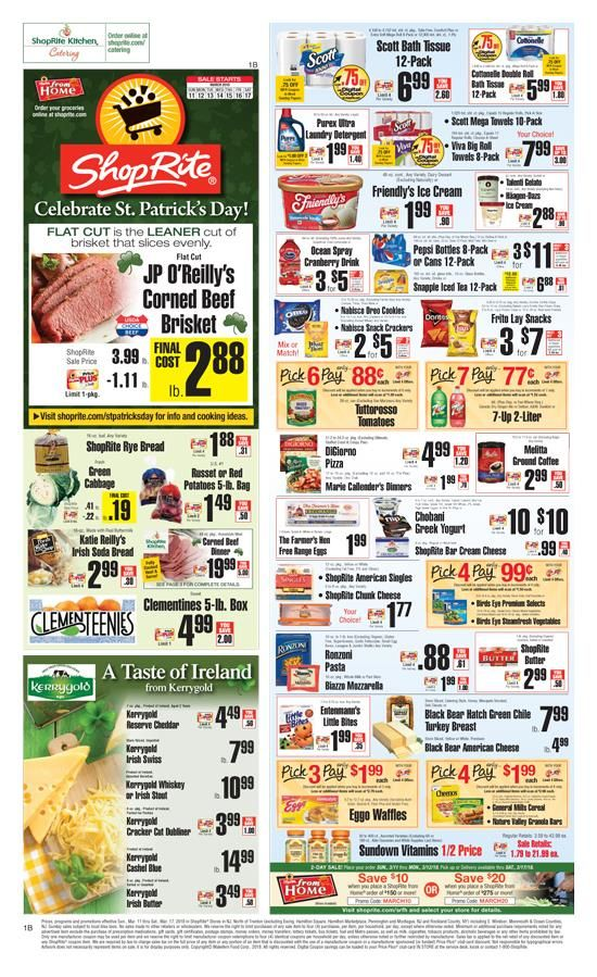 Explore latest Shoprite Weekly Circular Flyer March 11 – 17, 2018.Customers can search Shoprite ads or Shoprite circular here to keep track of the discounts, promotions, coupons and deals offered by the store. Shoprite offer everyday groceries and household products, budget-beating...