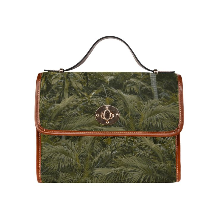 Palms Tropics Waterproof Canvas Bag/All Over Print (Model 1641)
