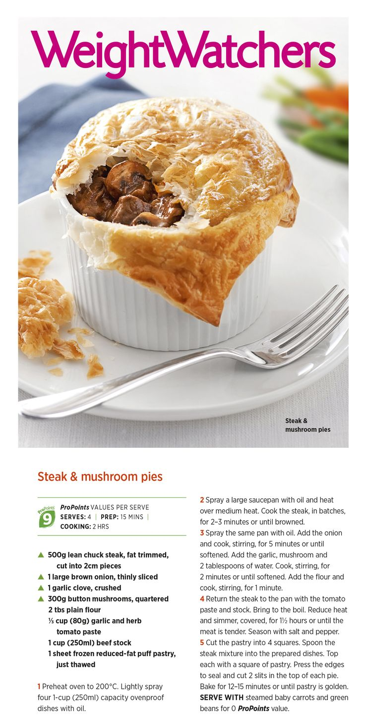 Looking for a great #weightloss friendly pie #recipe? Here's one of ours from the August #weightwatchers magazine.