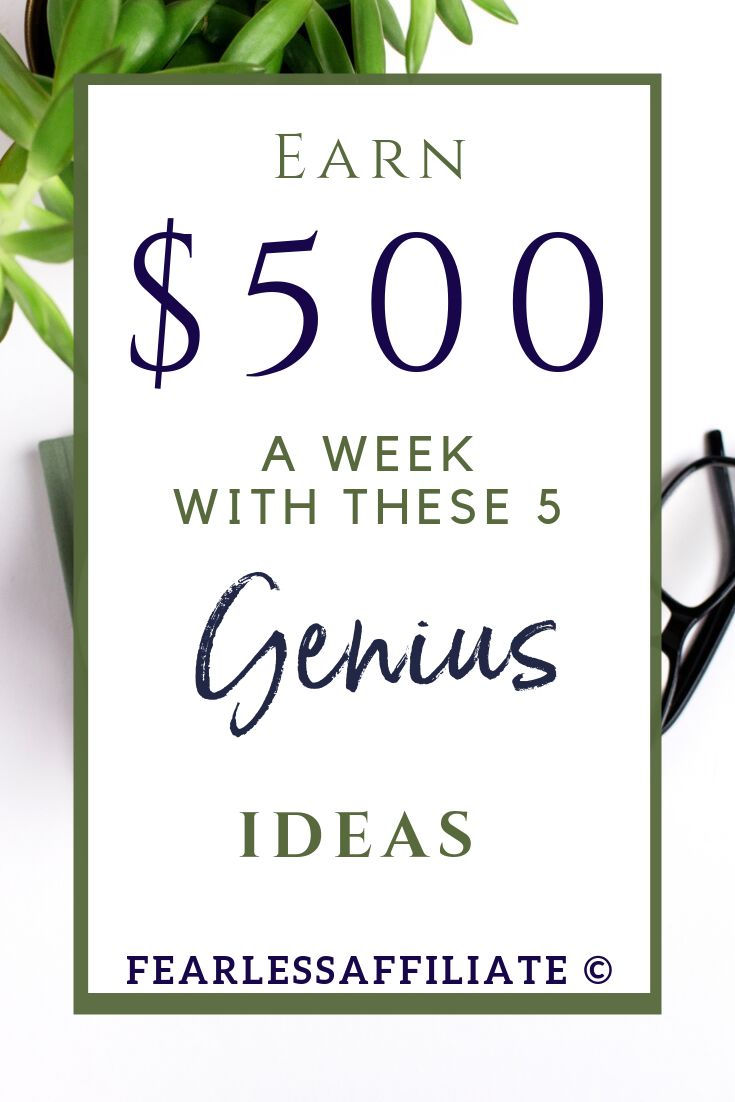 Create $500 a Week In Passive Income