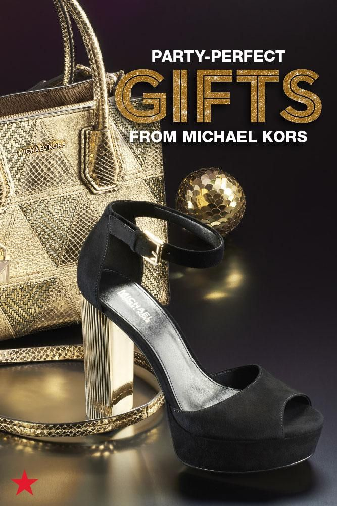 Need gorgeous accessories for party season? Get dressed up in Michael Kors' sparkliest pieces from night-out bags to platform shoes for all your holiday festivities. Shop now at Macy's!