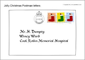 Jolly Christmas Postman cut-out letters and characters (SB8845) - SparkleBox