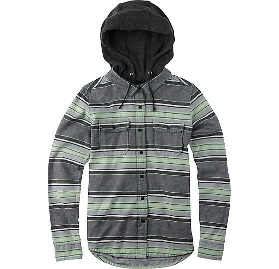 Honey | Acorn Hooded Flannel from Burton. Ok, this one's not cheap.  But it has a hood :)