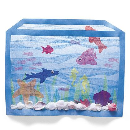 Make your own aquarium at home! What kinds of animals would you find in an aquarium? Sun-catcher Aquarium | Crafts | Spoonful