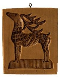 Majestic Reindeer Cookie Mold - Antique Reproduction Cookie Mold