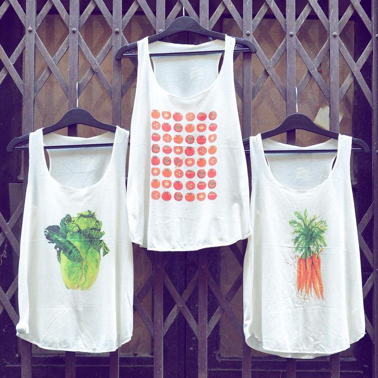 Veggie lifestyle 🍅  Vegetable inspired cute tanktop collection   #szputnyik #szputnyikshop #budapest