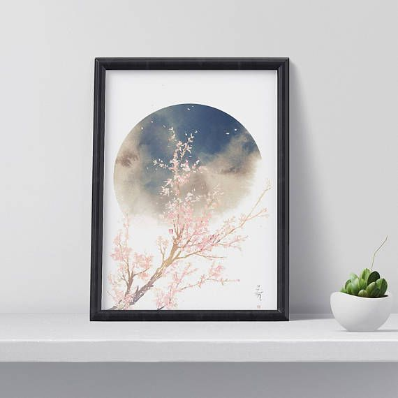 Hey, I found this really awesome Etsy listing at https://www.etsy.com/listing/558600623/cherry-blossom-art-print-exotic-art