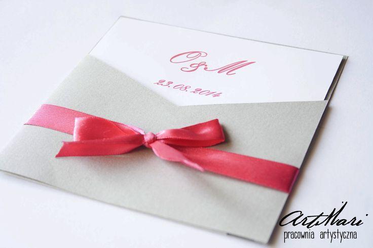 eleganckie zaproszenie ślubne w kopercie