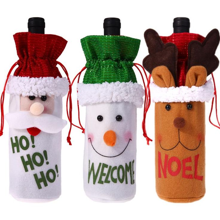 Christmas Wine Bottle Covers //Price: $8.99 & FREE Shipping //     }