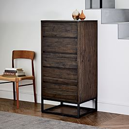 Logan 5-Drawer Dresser - Smoked Brown