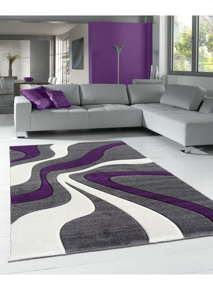 awesome tapis salon gris violet ideas awesome interior home satellite. Black Bedroom Furniture Sets. Home Design Ideas