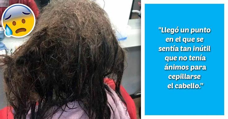 La cabellera de una adolescente quedó destrozada por el descuido al que se abandonó al hundirse en una depresión severa y un peluquero salvó su melena.