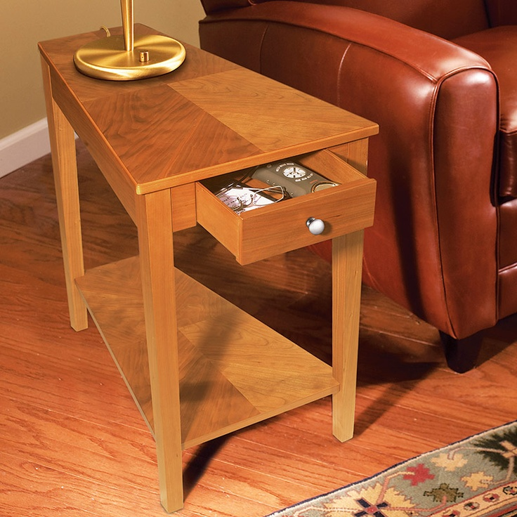 Wedge End Table With Drawer WoodWorking Projects & Plans