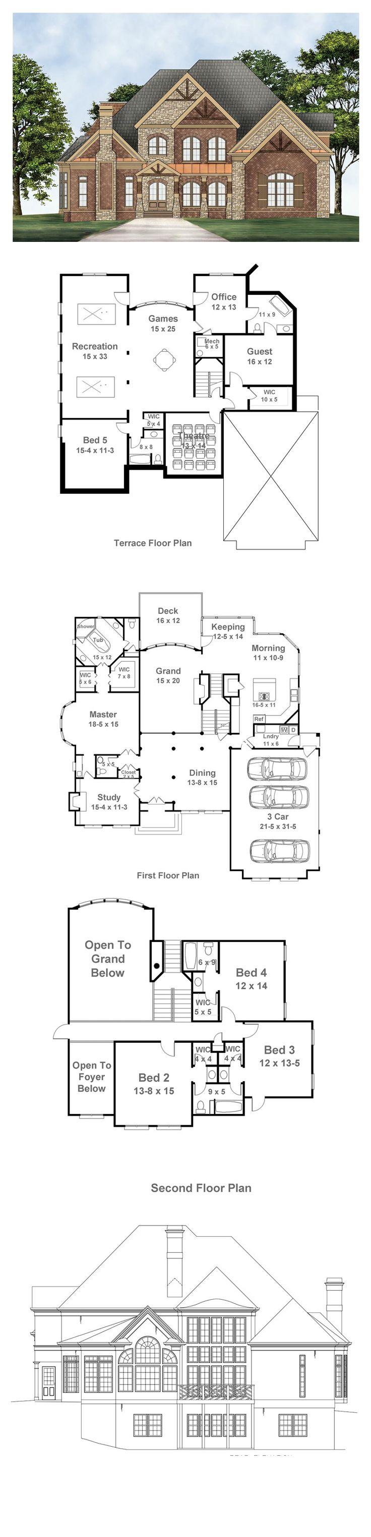 Greek Revival House Plan 72096 Total Living Area 3143