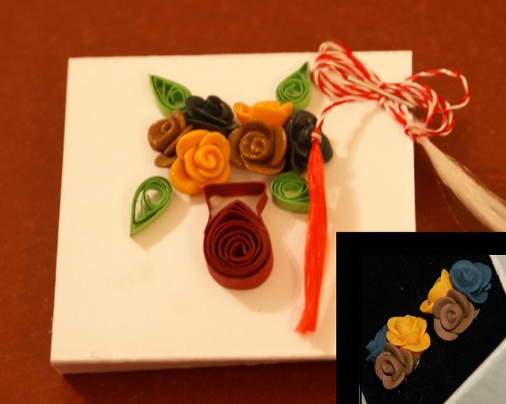 Un buchet de martisor, ale carui flori le pastrezi in urechi :)