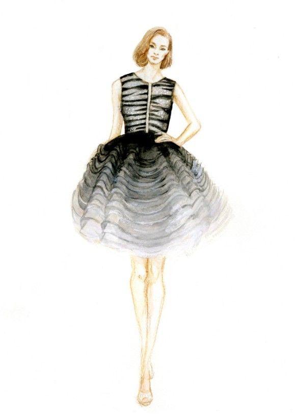 Dior Watercolor Color Pencils Fashion Design Pinterest