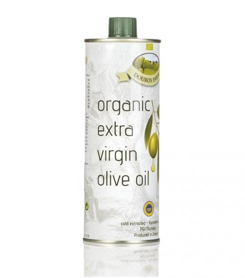 """Douros farm"" organic extra virgin olive oil tin 500 ml available at just 11.00€"