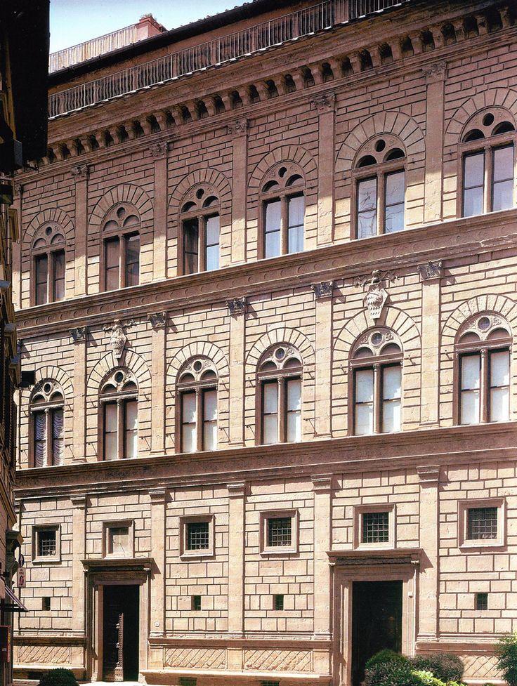 Architettura rinascimentale facciata di palazzo rucellai a firenze leon battista alberti - I giardini di palazzo rucellai ...
