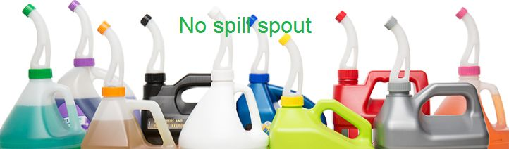 No spill-spout fit on more than 185 brands, both of which are in 1 gallon form. No-spill spout works on approximately 1 gallon jug, including bleach, industrial cleaner, dish soap, lubricant and oil, radiator fluid and windshield wiping fluid. No spill spout is a precious thing that comes in cheap price. Shipping is free anywhere in the United States. Know more about our products and services here. Feel free to contact us! www.nospillspout.com