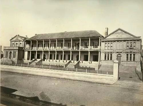 """Part of the Sydney Hospital,nicknamed the """"Rum Hospital"""".The building now is State Parliament House. A♥W"""