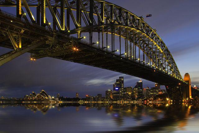 Sydney Harbor At Dusk by Greg Weeks Photography, via Flickr