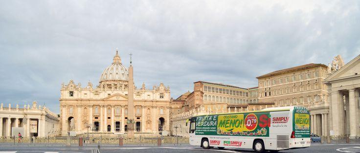 Circuito  di Roma campagna personalizzata esterna ed interna.