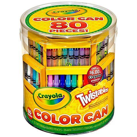 buy crayola twistables colour can online at johnlewiscom - Crayola Colored Pencils Twistables