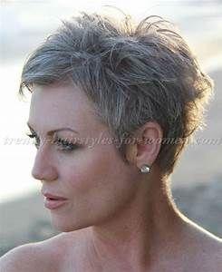 short hairstyles over 50 – pixie cut for grey hair … #WomensHaircutsGoingViral