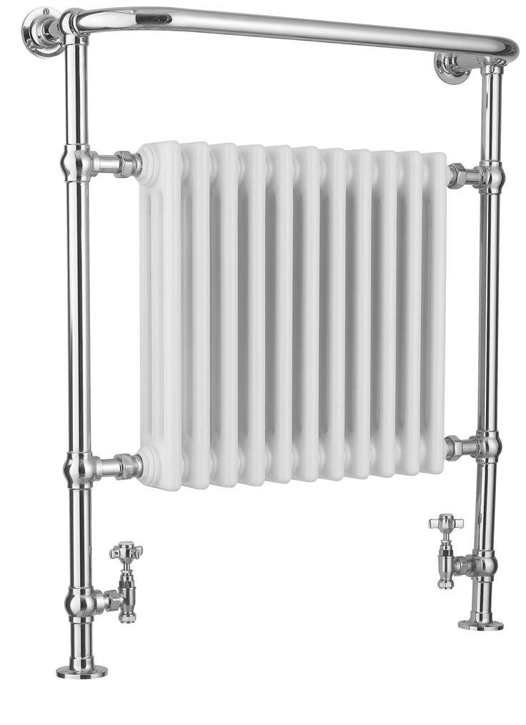 Kudox Victoria Traditional Towel Warmer Chrome Effect (H)952 (W)800mm | Departments | DIY at B&Q