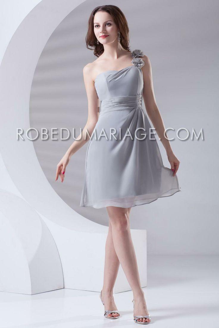 Robe demoiselle d'honneur pas cher  http://www.robedumariage.com/chiffon-robe-demoiselle-d-honneur-asymetrique-fleur-robe-pas-cher-product-6724.html