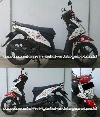 Honda Vario  ESP White Simply Blue HC Custom Sticker - Motorcycle bumper custom stickers