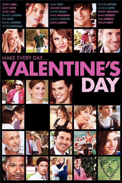 VALENTINE'S DAY (2010): Intertwining couples and singles in Los Angeles break-up and make-up based on the pressures and expectations of Valentine's Day.