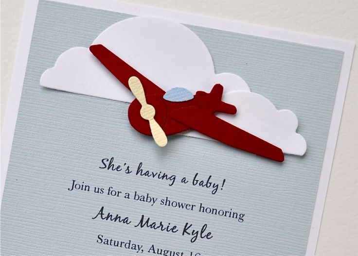 Airplane Baby Shower Invitation : Airplane Baby Shower U2013 Great .