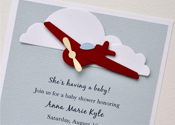 airplane baby shower invitation : airplane baby shower – great, Baby shower invitations