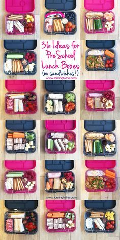 Lunchbox Ideas for PreSchoolers - with no boring sandwiches! Inspiration for more interesting pack ups for kids   http://www.tamingtwins.com