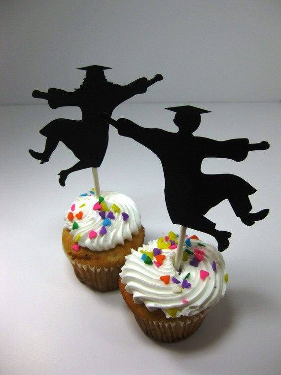 Graduation Cupcake Toppers Set of 12 Guy Jumping For Joy  Etsy: QueenBeeInspirations