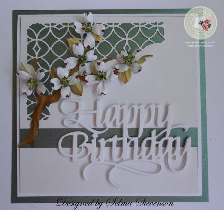Dogwood Happy Birthday by Selma - Cards and Paper Crafts at Splitcoaststampers