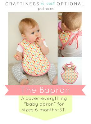 Bapron Pattern in two sizes!