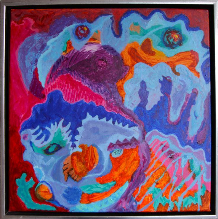 """Miss Ebola Attack II"" 40 x 40 cm, acrylic on canvas."