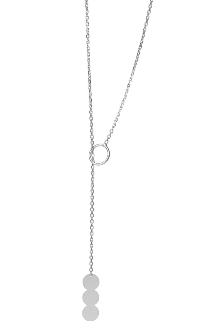 Delicate pendant on a fine chain, in 14k gold. The chain slides through the small circle, making it adjustable. You can also wear it on your back, for a touch of glam to your outfit.  Available in white or yellow gold and multiple chain length options. Free personalized engraving on the back of the pendants. Shop the collection at www.reena.ro or order directly at reena.orders@gmail.com.