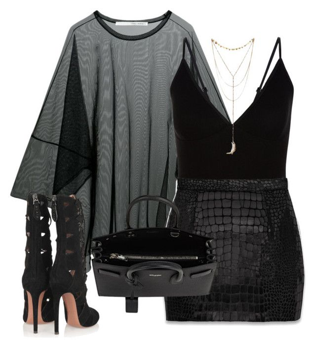 """""""Sans titre #3139"""" by christina95styles ❤ liked on Polyvore featuring ISABEL BENENATO, New Look, Yves Saint Laurent and Alaïa"""