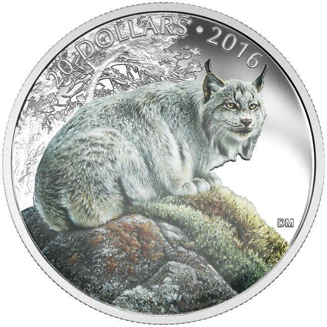 20 Dollar Silber Kanadischer Luchs PP
