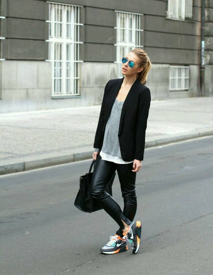 Outfits con tenis http://beautyandfashionideas.com/outfits-con-tenis/