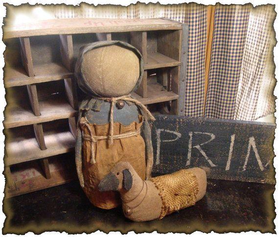 ePattern ~ Primitive Prairie Doll und ihre Schafe   – Products