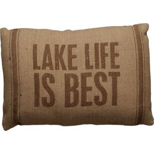 Lake Life IS Best! And decorating at the lake is a blast! Add our Lake Life Is Best Pillow to your decor today. This pillow measures 15 inches by 10 inches.